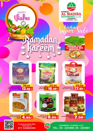 UAE - Fujairah Al Madina Supermarket LLC offers in D4D Online. Vishu Super Sale @ Sakamkam. . Until Stock Last