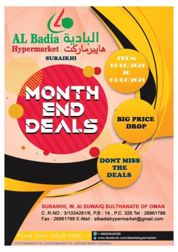 Oman - Sohar AL Badia Hypermarket offers in D4D Online. Month End Deals. . Till 03rd July