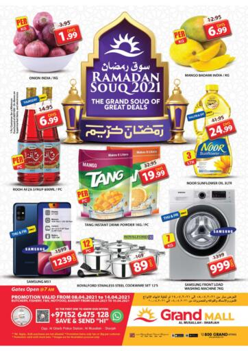 UAE - Sharjah / Ajman Grand Hyper Market offers in D4D Online. Al Musallah, Sharjah. Buy More With Less Price From Grand Hypermarket Before 14th April 2021. Enjoy Shopping!!!. Till 14th April