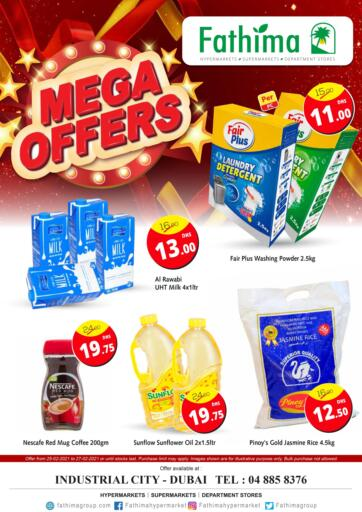 UAE - Dubai Fathima Hypermarkets & Supermarkets offers in D4D Online. Mega Offer. . Till 27th February