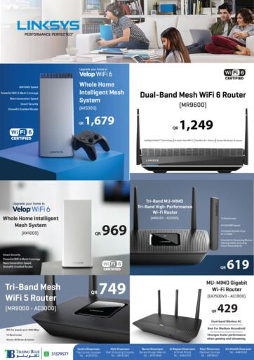 Qatar - Al Khor Techno Blue offers in D4D Online. Upgrade your Home with WiFi 6 network. Now its time to shop from Techno Blue. Get Upgrade your Home with WiFi 6 network  offers and get your products at great discounts. Offers valid Till 15th August.   Hurry Up!!!!!. Till 15th August