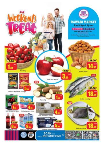 UAE - Sharjah / Ajman Rawabi Market Ajman offers in D4D Online. Weekend Treat-Rashidiya. Weekend Treat Now From Rawabi Market. Offer Valid Till 11th September 2021.  Enjoy Shopping!!!. Till 11th September