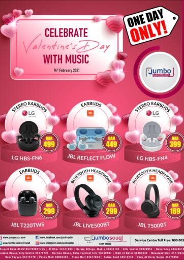 Qatar - Al-Shahaniya Jumbo Electronics offers in D4D Online. Celebrate Valentine's Day With Music. . Only On 14th February