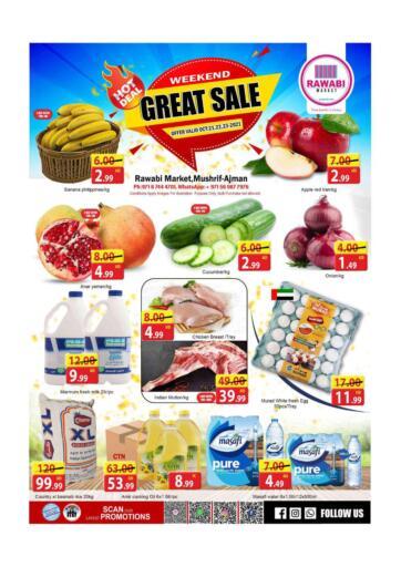 UAE - Sharjah / Ajman Rawabi Market Ajman offers in D4D Online. Mushrif - Great Sale. . Till 23rd October
