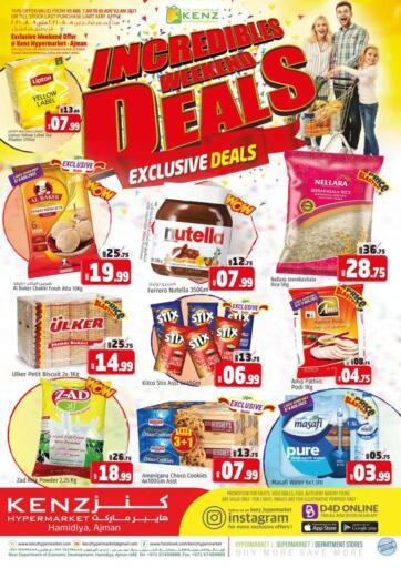 UAE - Sharjah / Ajman Kenz Hypermarket offers in D4D Online. Incredibles Weekend Deals. Incredibles Weekend Deals Now Available At Kenz Hypermarket. Rush Now And Get Everything At Best Price. Offer Valid Till 08th August 2021.  Enjoy Shopping!!!. Till 08th August