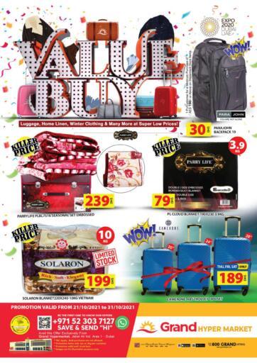 UAE - Dubai Grand Hyper Market offers in D4D Online. Jebel Ali, Area 1-Dubai. . Till 31st October