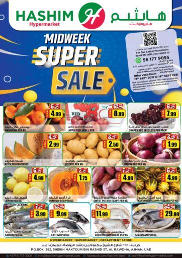 UAE - Sharjah / Ajman Hashim Hypermarket offers in D4D Online. Midweek Super Sale. Midweek Super Sale Are Waiting For You At Hashim Hypermarket.Get Your Products At Exiting Offer.Valid Till 14th September 2021.  Enjoy Shopping!!!. Till 14th September