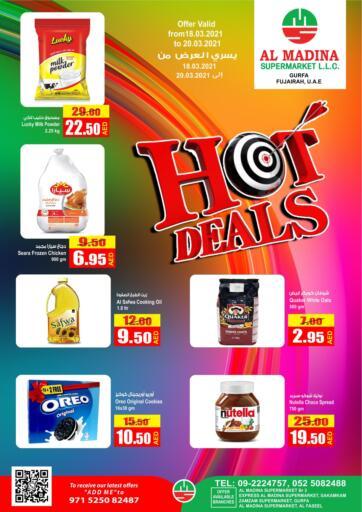 UAE - Fujairah Al Madina Supermarket LLC offers in D4D Online. Hot Deals. . Till 20th March