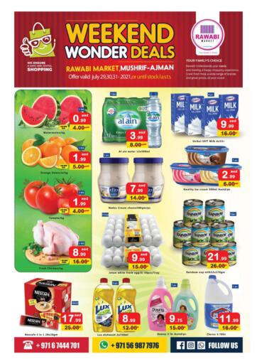 UAE - Sharjah / Ajman Rawabi Market Ajman offers in D4D Online. Weekend Wonder Deals-Mushrif. . Till 31st July