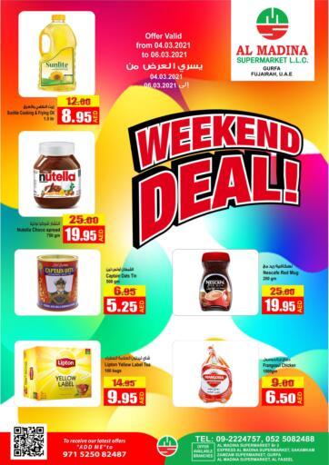 UAE - Fujairah Al Madina Supermarket LLC offers in D4D Online. Weekend Deal!.