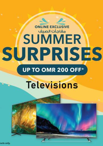 Oman - Sohar Sharaf DG  offers in D4D Online. Summer Surprises- Televisions. . Until Stock Lasts
