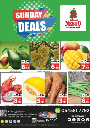 UAE - Umm al Quwain Nesto Hypermarket offers in D4D Online. Umm Al Quwain. Visit Your Nearest Nesto Hypermarket Store And Get Everything At Best Price Only Available On 28th March 2021.  Enjoy Shopping!!!. Only On 28th March