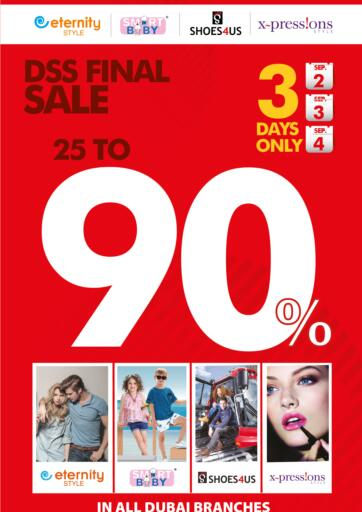 UAE - Sharjah / Ajman Safeer Hyper Markets offers in D4D Online. DSS Final Sale 25 To 90%. . Till 4th September