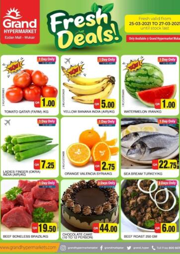 Qatar - Al Wakra Grand Hypermarket offers in D4D Online. Fresh Deals. . Till 27th March