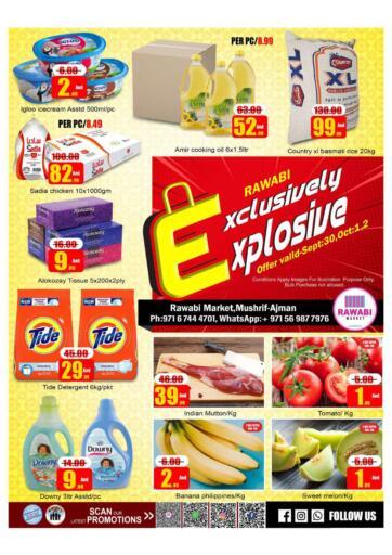 UAE - Sharjah / Ajman Rawabi Market Ajman offers in D4D Online. Exclusively Explosive - Mushrif, Ajman. Exclusively Explosive Now From Rawabi Market. Offer Valid Till 02nd October 2021.  Enjoy Shopping!!!. Till 2nd October