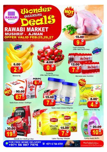 UAE - Sharjah / Ajman Rawabi Market Ajman offers in D4D Online. Mushrif, Ajman. . Till 27th February