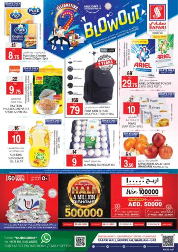 UAE - Sharjah / Ajman Safari Hypermarket  offers in D4D Online. SAFARI BLOWOUT. . Till 22nd September