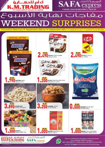 Oman - Salalah KM Trading  offers in D4D Online. Weekend Surprises!. . Till 11th September