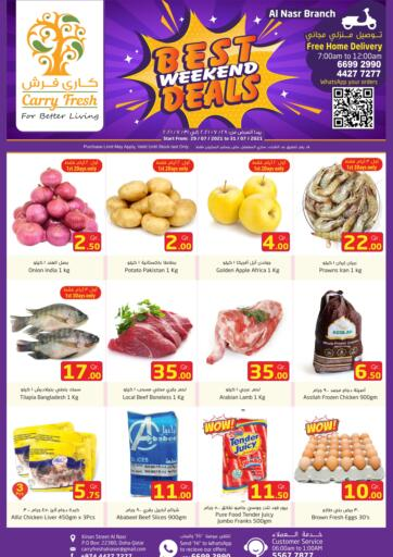Qatar - Al-Shahaniya Carry Fresh Hypermarket offers in D4D Online. Best Weekend Deals- Al Nasr. . Till 31st July