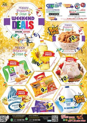 UAE - Ras al Khaimah Gulf Hypermarket offers in D4D Online. Weekend Deals. . Until Stock Last