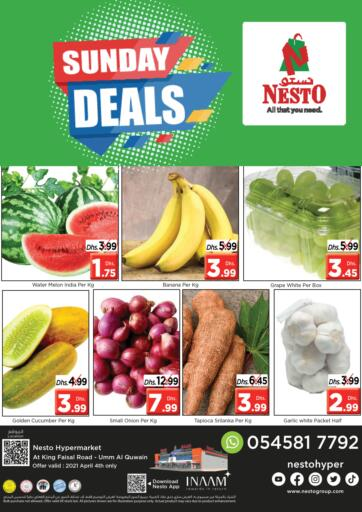UAE - Umm al Quwain Nesto Hypermarket offers in D4D Online. Umm Al Quwain. Get Great Offers On Your Favorite Products At Exciting Offers. Visit Your Nearest Store Before 04th April 2021.  Enjoy Shopping!!!. Only On 04th April