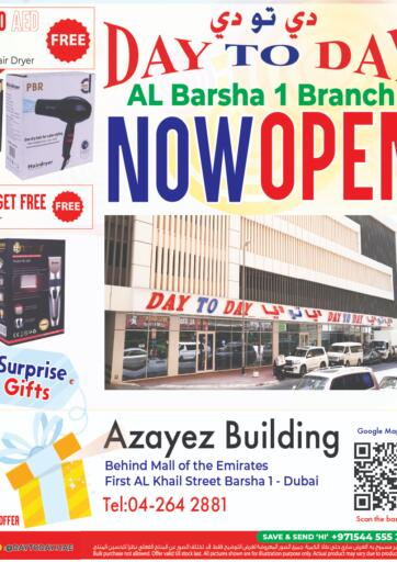 UAE - Sharjah / Ajman Day to Day Department Store offers in D4D Online. Surprise Gifts!. . Until Stock Lasts