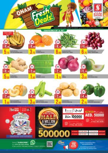 UAE - Sharjah / Ajman Safari Hypermarket  offers in D4D Online. Onam Fresh Deals. . Till 21st August