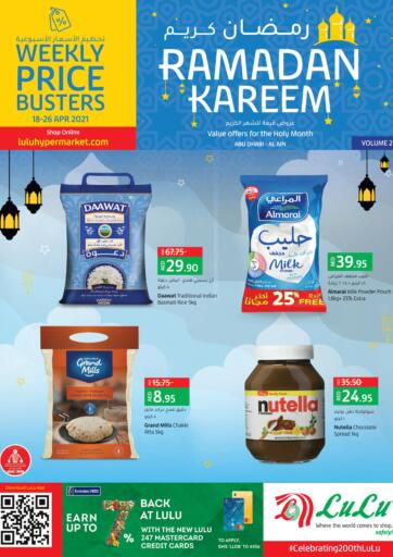 UAE - Abu Dhabi Lulu Hypermarket offers in D4D Online. Weekly Price Busters. . Till 26th April