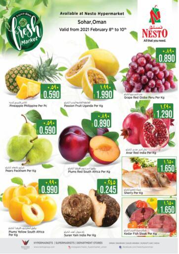 Oman - Sohar Nesto Hyper Market   offers in D4D Online. Fresh Market. . Till 10th February