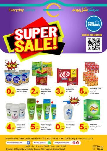 UAE - Sharjah / Ajman Everyday Center offers in D4D Online. Super Sale!. . Till 23rd October