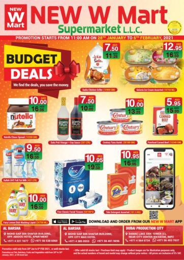 UAE - Dubai NEW W MART SUPERMARKET  offers in D4D Online. Budget Deals. . Till 6th February