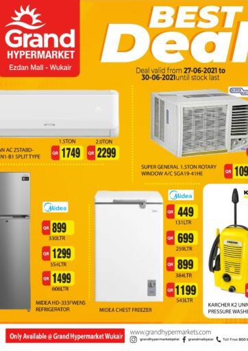 Qatar - Al-Shahaniya Grand Hypermarket offers in D4D Online. Best Deal. Best Deal  Offers Are Available At Grand Hypermarket. Offers Are Valid Till 30th June  . Enjoy!!. Till 30th June