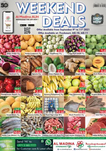 UAE - Abu Dhabi Al Madina Hypermarket offers in D4D Online. Weekend Deals @ Freshmart, ME-10, ME-11. . Till 11th September