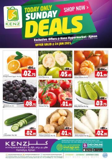 UAE - Sharjah / Ajman Kenz Hypermarket offers in D4D Online. Sunday Deals. . Only on 24th January