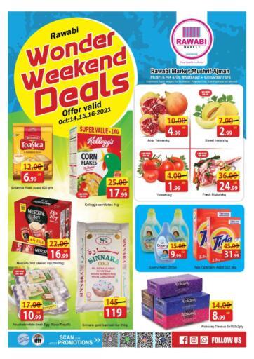 UAE - Sharjah / Ajman Rawabi Market Ajman offers in D4D Online. Wonder Weekend Deals@mushrif. . Till 16th October