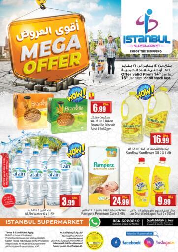 UAE - Dubai Istanbul Supermarket offers in D4D Online. Mega Offers. . Till 16th January