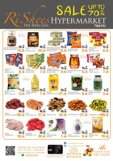 UAE - Abu Dhabi Rishees Hypermarket offers in D4D Online. Special Offer. . Till 26th January