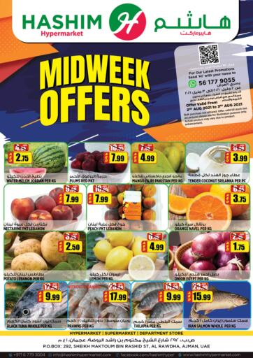 UAE - Sharjah / Ajman Hashim Hypermarket offers in D4D Online. Midweek Offers. Midweek Offers Are Waiting For You At Hashim Hypermarket.Get Your Products At Exiting Offer.Valid Till 03rd August 2021.  Enjoy Shopping!!!. Till 3rd July