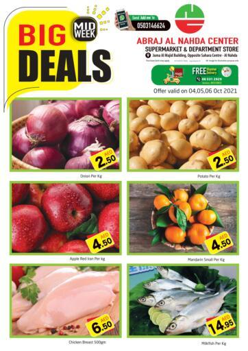 UAE - Sharjah / Ajman Abraj Hypermarket offers in D4D Online. Midweek Big Deals @ Al Nahda. . Till 06th October