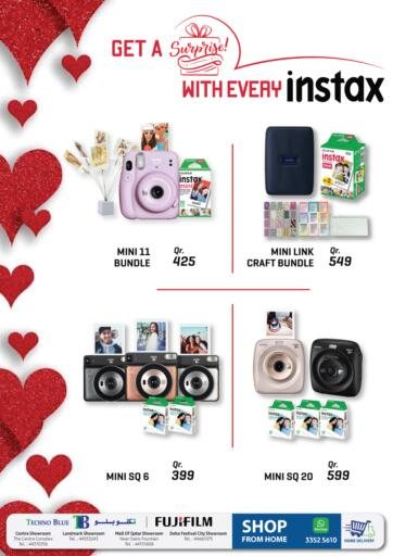 Qatar - Al-Shahaniya Techno Blue offers in D4D Online. Gift your loved ones an Instax - instax Flyer. . Till 14th February