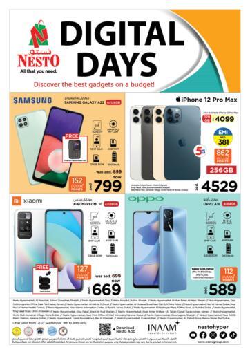 UAE - Dubai Nesto Hypermarket offers in D4D Online. DIGITAL DAYS. . Till 18th September