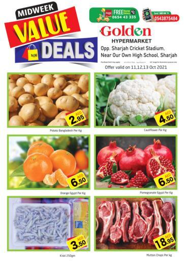 UAE - Sharjah / Ajman Golden Hypermarket offers in D4D Online. Midweek Value Deals. . Till 13th October