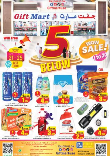 UAE - Sharjah / Ajman GIFT MART- Sharjah offers in D4D Online. 5 below Wow Sale!. . Till 29th October