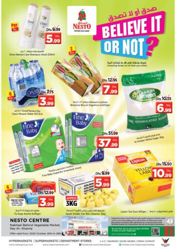 UAE - Ras al Khaimah Nesto Hypermarket offers in D4D Online. Ras Al Khaima. . Till 28th October