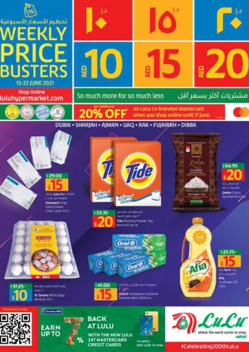 UAE - Dubai Lulu Hypermarket offers in D4D Online. 10 15 20 AED Offers. . Till 22nd June