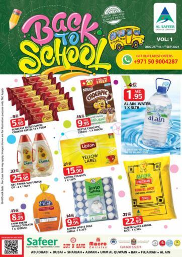 UAE - Sharjah / Ajman Safeer Hyper Markets offers in D4D Online. Back To School. Back To School Offer From Safeer Hyper Market With Their Festival Delights. Offer Valid Till 01st September 2021.  Enjoy Shopping!!!. Till 1st September