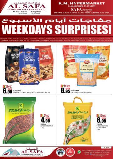 UAE - Al Ain K M Trading  offers in D4D Online. Weekend Surprises!. . Till 02nd March