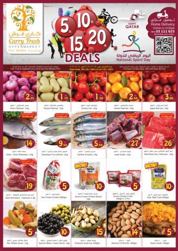 Qatar - Al-Shahaniya Carry Fresh Hypermarket offers in D4D Online. 5 10 15 20 QR Deals. Now get this 5 10 15 20 QR Deals Offers on all products from Carry Fresh Hypermarket. hurry now. offer valid till 10th February. Enjoy Shopping!!!. Till 10th February
