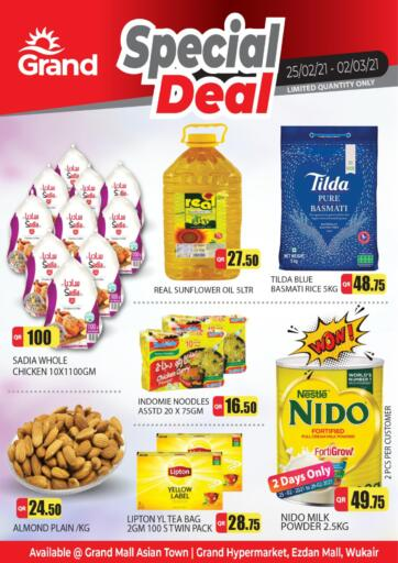 Qatar - Al Wakra Grand Hypermarket offers in D4D Online. Special Deal. Special Deal  Offers Are Available At Grand Hypermarket. Offers Are Valid Till 02nd March . Enjoy!!. Till 02nd March
