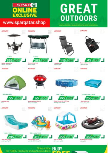 Qatar - Al Khor SPAR offers in D4D Online. GREAT OUTDOORS. GREAT OUTDOORS Offers Are Available At SPAR. Get Your Favourite Products at Exclusive Prices. Offers  Are Valid  Till 24th February .. Grab It Now! Enjoy Shopping!!!. Till 24th February